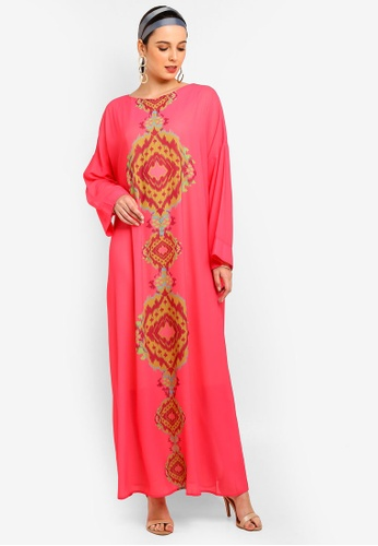Tom Abang Saufi for ZALORA pink Grace Kaftan F18CEAAE14430BGS_1