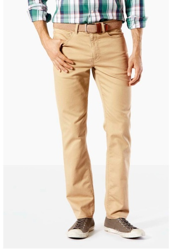 Dockers brown Dockers 5 Pocket Slim Pants Dockers Khaki Dobby CF308AAF7F7A69GS_1