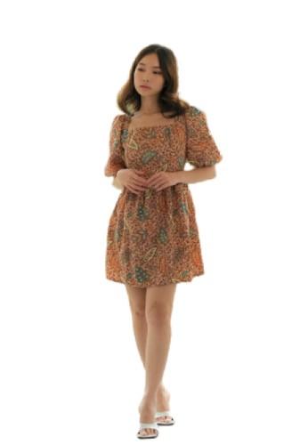 Flike Batik multi Dress Tangan 3/4 Motif Rwaining Samantha CBFD5AACC96692GS_1