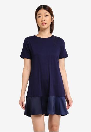 Something Borrowed navy Panelled T-Shirt Dress 6ABECAA10FCE09GS_1