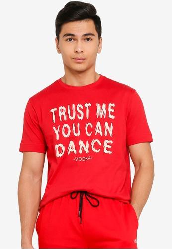 UniqTee red Trust Me You Can Dance Tee B078AAAE47A1E0GS_1