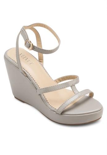 Lena 多帶厚底楔型跟涼鞋、 女鞋、 鞋VelvetLena多帶厚底楔型跟涼鞋最新折價