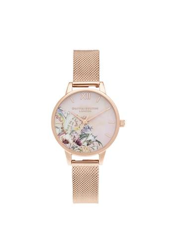 Olivia Burton 粉紅色 Olivia Burton Enchanted Garden Pink Women's Watch (OB16EG157) BEFA5ACC618217GS_1