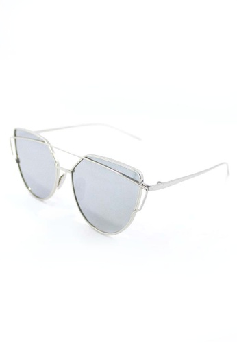 Amora Scarlett silver Branché Silver Frame with Silver Mirror Reflective Transition Lens AM058AC26MXXMY_1