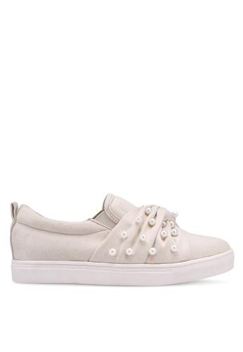 Velvet 白色 珍珠懶人鞋 188D5SHE15E183GS_1