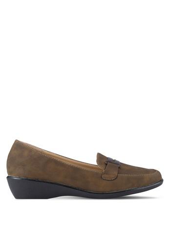 Noveni 褐色 懶人楔型鞋 NO978SH92REPMY_1