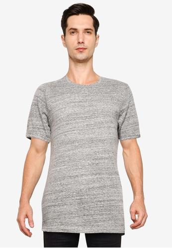 !Solid grey Lazer Melange T-Shirt DBC7AAA7D373C1GS_1
