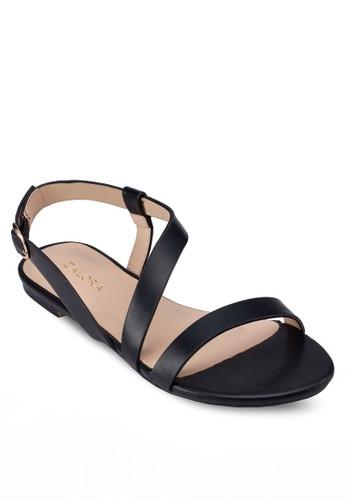 造型踝帶平底涼鞋,zalora 折扣碼 女鞋, 涼鞋