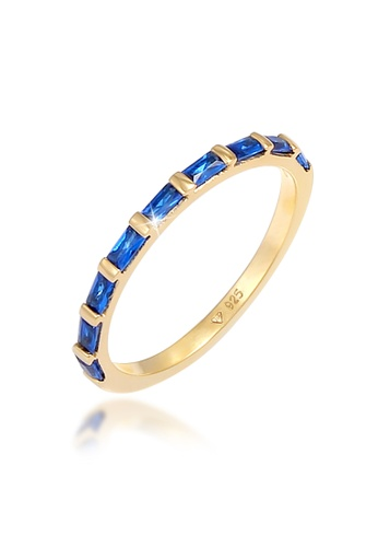 ELLI GERMANY blue Woman Sapphires Gold Plated Ring B90DFAC5B8205FGS_1