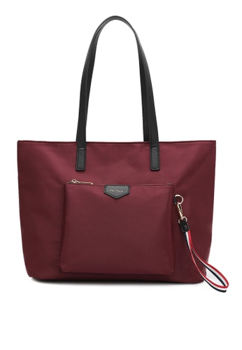 Wild Channel red Water Resistant Tote Bag 30FEEAC5FE3BDEGS_1