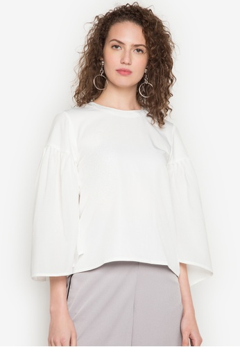 R.A.F. by Plains & Prints white Wonju Long Sleeves Top RA114AA0JZOZPH_1