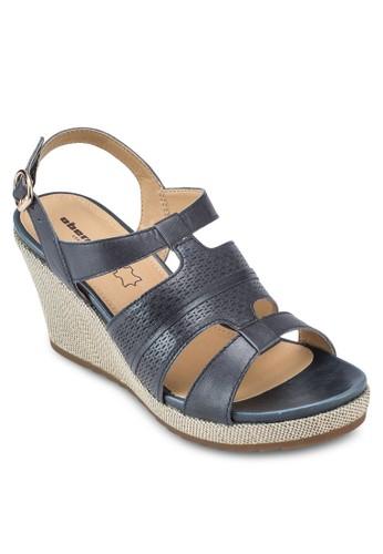 Elsa 暗紋繞踝楔形涼鞋, 韓esprit台灣網頁系時尚, 梳妝