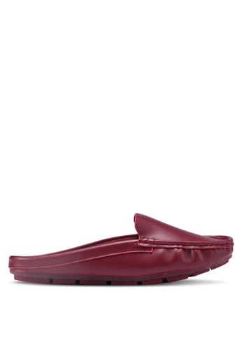 Bata red Open Back Loafers 501E4SH38FF449GS_1