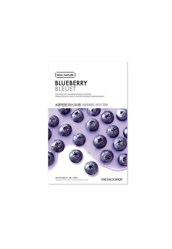 THE FACE SHOP Real Nature Mask Sheet - Blueberry [Bundle of 10] 008E3BEC52420DGS_1