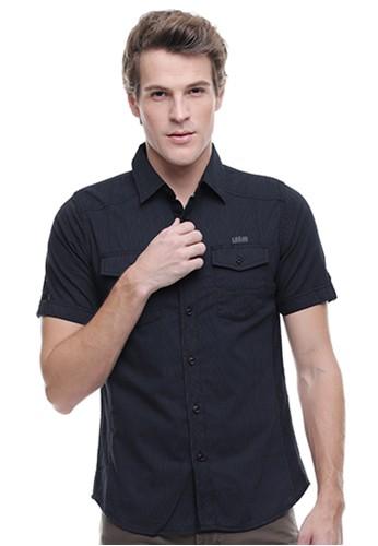 LGS grey LGS - Slim Fit - Kemeja Fashion - Kantong Dua - Abu Gelap 32710AABA6DB55GS_1