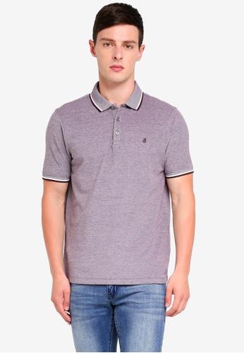 Burton Menswear London 紅色 Burgundy Two-Tone Pique Polo Shirt 04F39AA966F925GS_1