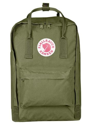 "Fjallraven Kanken green Green Kanken 15"" Backpack E946BAC272D088GS_1"
