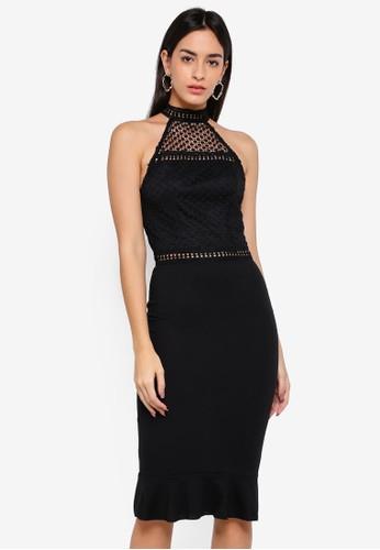 AX Paris black Crochet Top Frill Hem Dress 7AF58AAF37966EGS_1