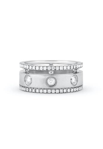Aquae Jewels white Ring Rich and Bold Diem, 18K Gold and Diamonds - White Gold A7FEBAC3946C1BGS_1