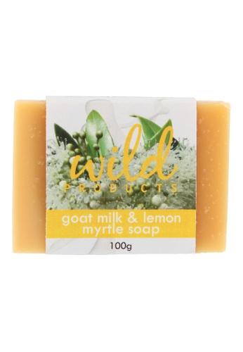 Wild Products beige Goat Milk & Lemon Myrtle Soap (100g) 0CC04BE0EA4705GS_1