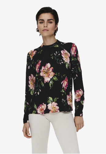 ONLY black Mallory Long Sleeve Blouse 5A37EAA5AF68CCGS_1