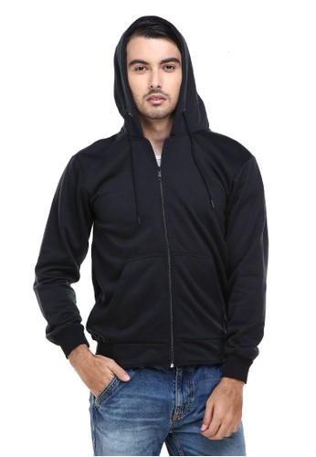Hamlin black Hamlin Clover Jaket Sweater Hoodie Polos Pria Casual Plain Jacket Material Fleece ORIGINAL C63BFAA46F6AAFGS_1