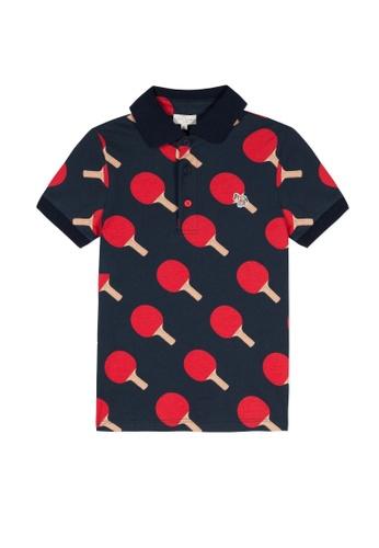PAUL SMITH JUNIOR red and blue PAUL SMITH JUNIOR BOYS POLO SHIRT 4640FKA3D60D5DGS_1