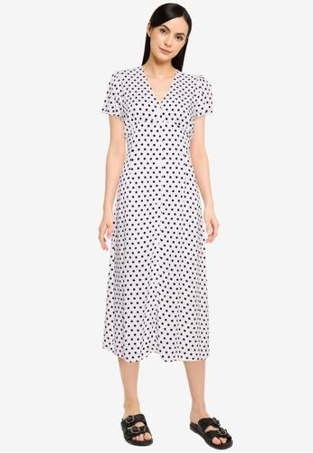 Cotton On white Woven Petite Katherine Midi Dress 3D72FAA4DB0437GS_1