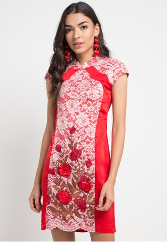 WHITEMODE red Alma Dresses 6097AAA5764870GS_1