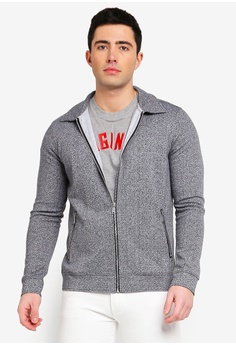 35df59bd0f1 Jack   Jones grey Jprherring Zip Through Collar Jacket 2F6E9AAE36682BGS 1