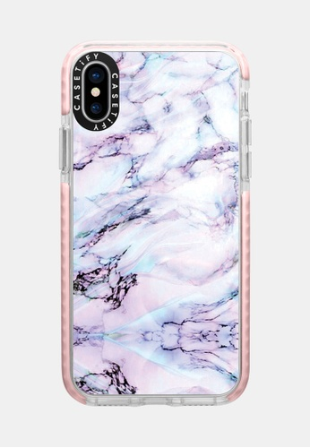 save off 31c52 cce79 Marble Swirl Protective Impact Case for iPhone XS/ iPhone X - Pink
