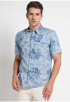 b506c04b898 BRITANIA blue Short Sleeve Print Shirt 7296 B88C9AA9906A89GS 1