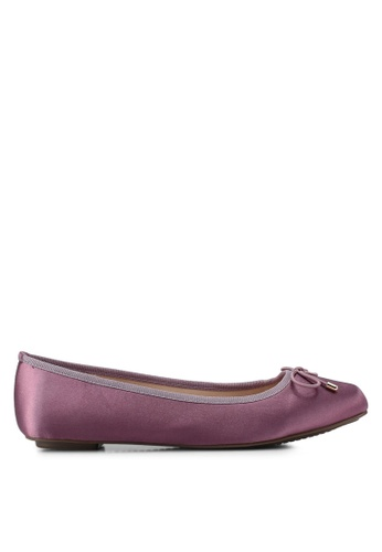 Nose purple Bow Tie Ballerina Flats E9240SH3B51DE9GS_1