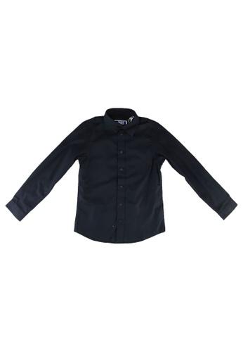 Jack & Jones navy Mason Stretch Long Sleeves Shirt 3D27FKABF79ACFGS_1