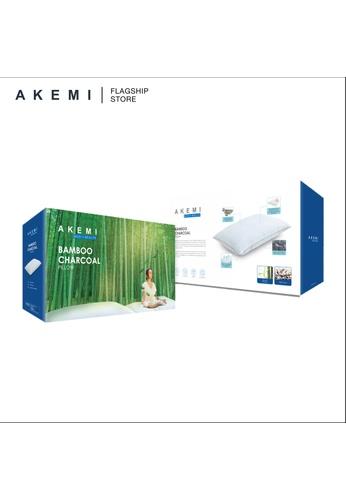 AKEMI white Ake M+H Bamboo Charcoal Pillow. 62F36HLEEE5D36GS_1