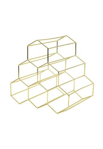 DILAS HOME Metallic Wine Rack (Gold) 5A1E6HL1E5AE31GS_1