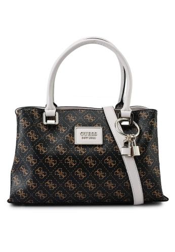 Guess brown Tyren Girlfriend Satchel Bag 940FDACC35EC10GS_1