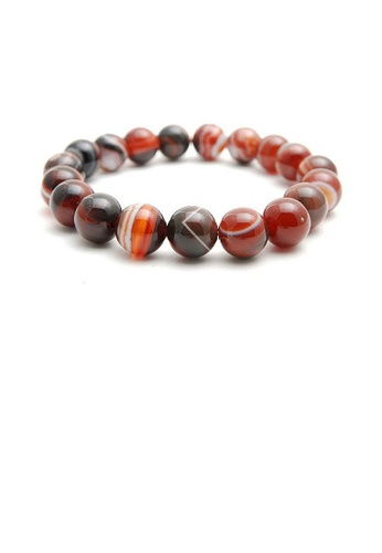 Grade A Brown Agate Bead Bracelet 10mm