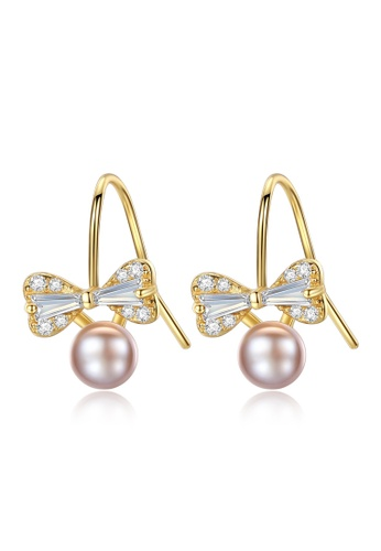A.Excellence pink Premium Pink Pearl Elegant Earring EF2C1AC35F6F27GS_1