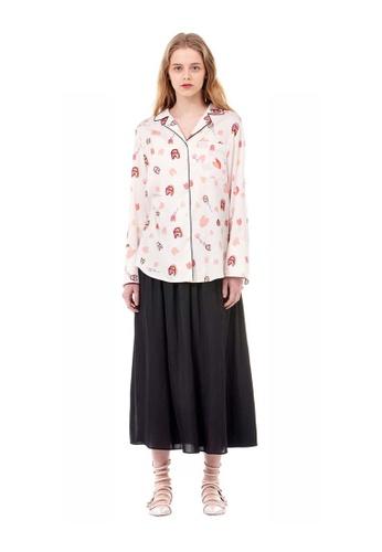 G-CUT black Pleated Skirt With Slits 6B3BBAA64015BAGS_1
