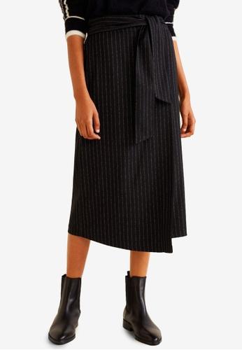Mango black Belt Midi Skirt 5E876AAC64AC07GS_1