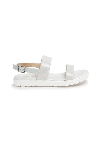 Shu Talk 銀色 真皮輕皮舒適涼鞋 95E16SHC9797BFGS_1