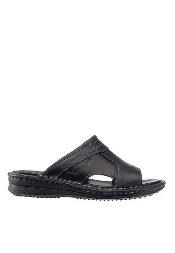 Hush Puppies black Hush Puppies Men's Reinhart Slide Sandal - Black 92558SHF613E15GS_1