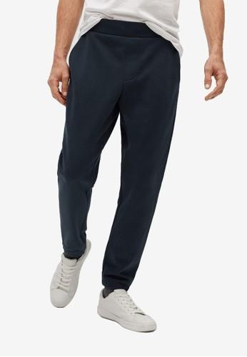 MANGO Man blue Sustainable Cotton Jogger Pants D72A4AAA3CA0CEGS_1