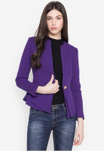Well Suited purple Slim Waist Blazer F5F31AA477217DGS_1