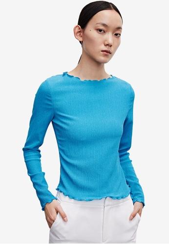URBAN REVIVO blue Casual T-Shirt 99538AA7D35459GS_1