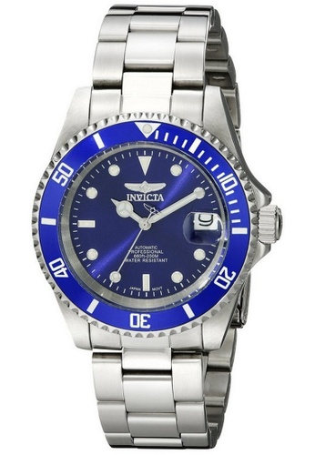 Invicta blue and silver Invicta Pro Diver Men 40mm Case Silver Stainless Steel Strap Blue Dial Automatic Watch 9094OB w/ Cap IN968AC0FEKGSG_1