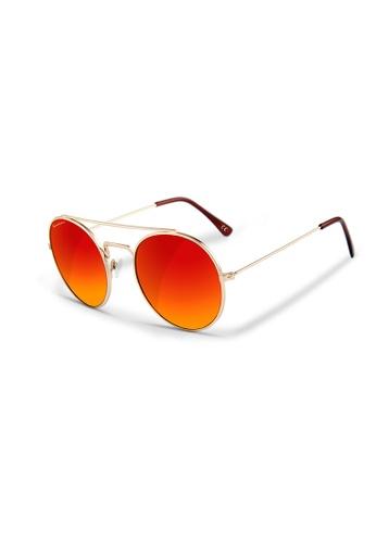 Sensolatino Eyewear black and green and blue and silver Sensolatino® Series Monaco Gold Frame With Red Polarized Lenses 021E6GL5E9A153GS_1