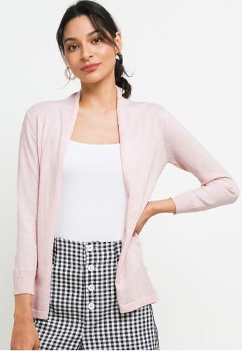 Peponi pink Basic Cardigan 686C0AA5898F3EGS_1