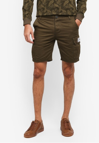 JAXON green Cargo Pocket Shorts 6051FAA53DD4C2GS_1